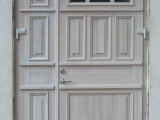 Lauko durys dvivėrės baltos
